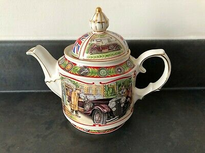 Sadler Collectable Teapot Golden Age Of Travel The Open Road Design 5073 #740 • 4.99£