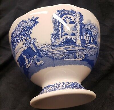 Portmeirion Spode BLUE ITALIAN Footed Dish Brand New • 3.20£