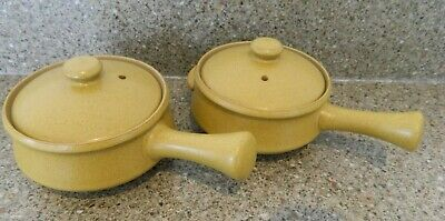 Pair Of Denby Ode Stoneware Covered Soup Bowls - Vgc • 4£