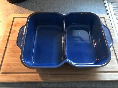 Denby Imperial Blue Double Dish • 15£