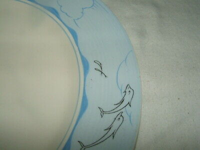 Clarice Cliff Bizarre Art In Industry W.robbins Dolphins Dinner Plates Stunning • 9.99£