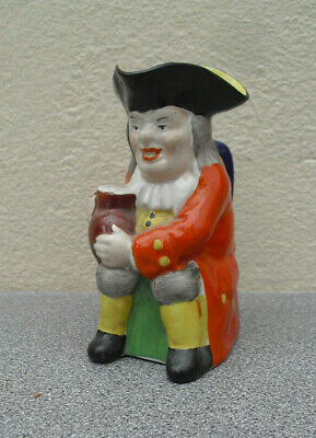 Staffordshire Vibrant Toby Jug With Orange Coat Nice Condition Victorian • 5£