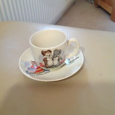 Beswick Cup And Saucer Teddy And Cuddly,Katie Country Mouse,Fleetway Publication • 10£