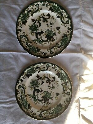 Masons Ironstone Green Chartreuse Plate X 2, 10 1/2 Inch • 14.50£