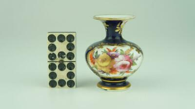 Good Early 19thC Spode Miniature Vase Blue Ground, Flowers • 9.99£