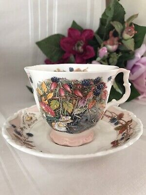 Royal Doulton Brambly Hedge Jill Barklem Four Seasons Autumn Full SizeCup&Saucer • 16.99£