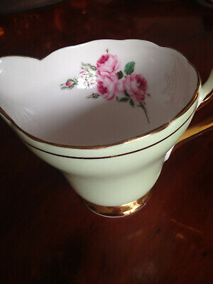 Sutherland Bone China Milk Jug. Lime Green & Flowers Pattern..  • 5.50£