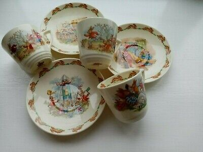 Bunnykins, Royal Doulton, 3 Cups & Saucers, Perfect Condition • 2£