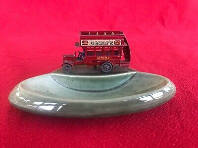 Wade Vintage Pin Tray/Ashtray With Metal Hand Painted Vintage Bus • 15£