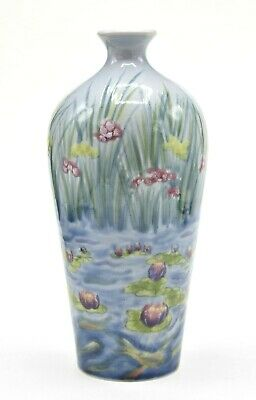Cobridge Stoneware Water Poem 9 Inch Vase ~ Rachel Bishop ~ First Quality 1999 • 69.99£