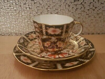 Royal Crown Derby Imari 2451 Trio Tea Cup Saucer Side Plate C1921- 24 Bone China • 19.99£