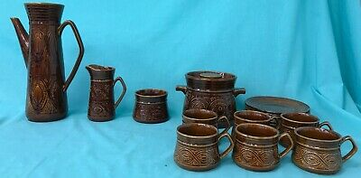 70s Ellgreave Saxony Collection - Plates, Cups, Pots And Jugs - Brown Pattern • 4.99£