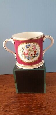 Victorian 1873 Twin Handled Loving  Cup...hand Decorated  Celebrating Birth... • 39.99£