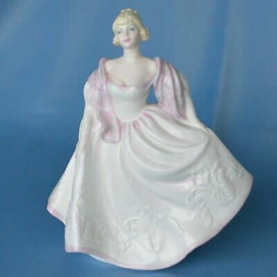 Vintage Coalport Lady Figurine Dressed For The Ball 1970s Excellent 8 H • 20£