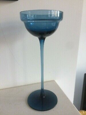Wedgwood Cromer Candlestick In Blue 8.5 /21.5cm Tall : In Excellent Condition • 11.99£
