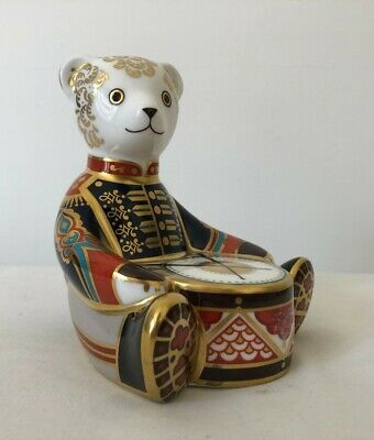 Royal Crown Derby Scottish Teddy Drummer Boy 1st Quality With Gold Stopper #126 • 18.53£