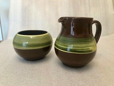 Holkham Pottery Milk / Cream Jug & Sugar Bowl  • 10£