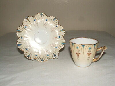 Mintons ! Aesthetic Handpainted Jewelled Cup & Saucer Truly Stunning  • 14.99£