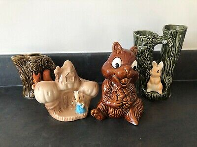 Collection Of Various Sylvac Pottery Ornaments Includes Chipmunk Money Box #605 • 4.99£
