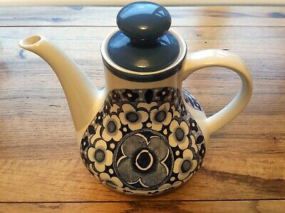 Vintage Blue And White Alfred Meakin 'harmony' Design Coffee/teapot • 7.50£