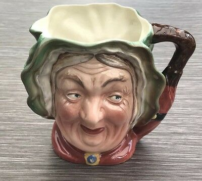 BESWICK DICKENS LARGE CHARACTER JUG SAIRY GAMP No 371 MADE IN ENGLAND • 39£