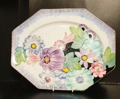 Vintage Grays Pottery, Hand Painted Art Deco Plate/Sandwich Tray 11Inches • 44.99£