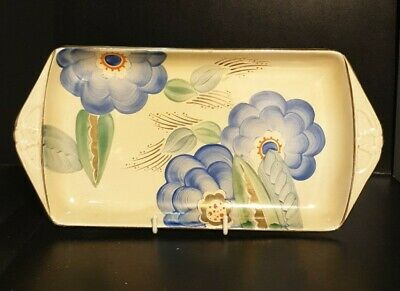 Vintage Grays Pottery, Hand Painted Art Deco Plate/Sandwich Tray 11Inches • 49.99£