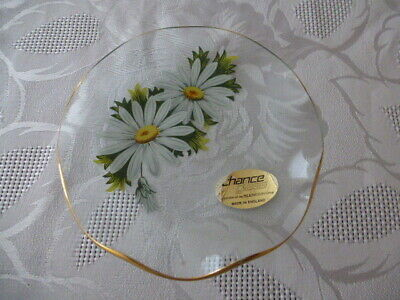 Chance Glass Floral Trinket Plate  Used • 3£