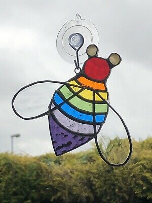 Stained Glass Rainbow Bee • 17£