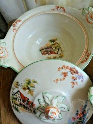 Pair Of Woods Ivory Ware Vintage Tureens In Cotswold Cottage Garden Design  • 25£