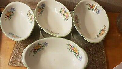 Collectables Vintage BCM Nelson Ware Oval Ceramic Floral Design 4 Small Dishes  • 9£