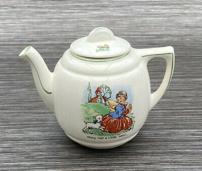 Mary Had A Little Lamb 1950's Nursery Ware Childs Teapot  • 14£