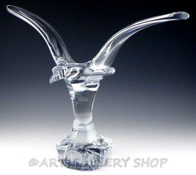 Daum France Crystal Figurine Sculpture 19-1/4  LARGE EAGLE BIRD Art Glass Rare! • 515.74£