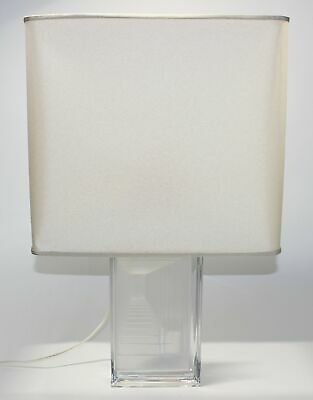 Daum France Mcm/hollywood Regency Frosted Crystal Lamp • 553.46£