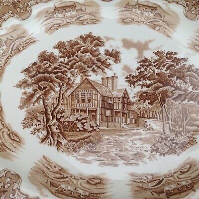 A Vintage Staffordshire Transfer-Ware Platter ~ Country Inns / Radnorshire  • 12£