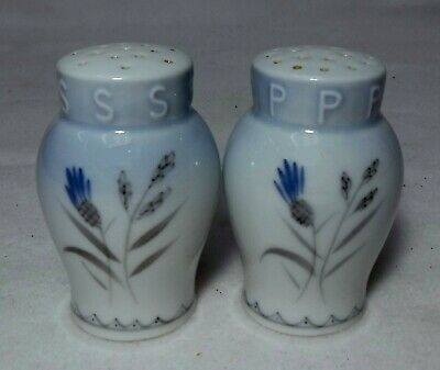 BING & GRONDAHL Denmark CORNFLOWER BLUE Salt & Pepper Shaker SET-2-3/4  Tall • 15.30£