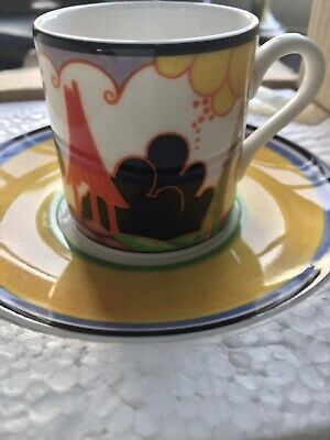 Limited Edition Clarice Cliff Coffee Can And Saucer. • 12.65£