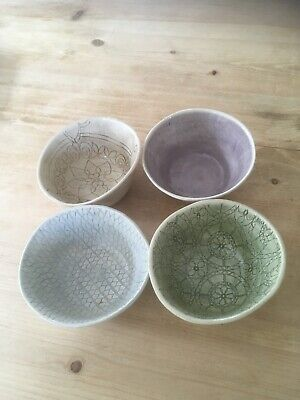 4 Small Wonki Ware Bowls Various Colours  • 10.50£