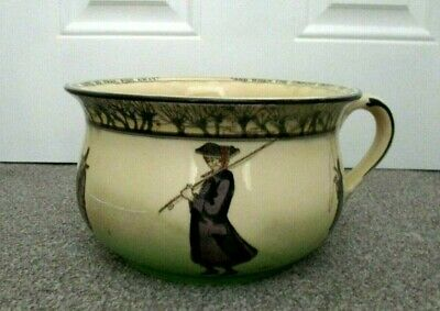 Rare Royal Doulton Seriesware Chamber Pot - Gallant Fishers D2704 - Excellent !! • 150£