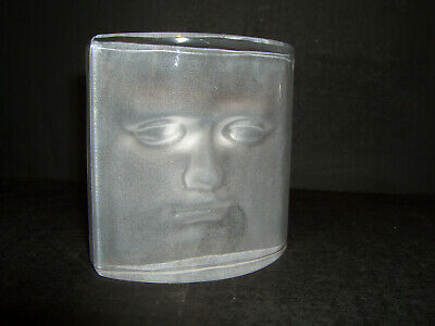 DAUM France Art Glass  ADAM  By Roy Adzak Face Sculpture Modern EFFECT 3D • 89.99£