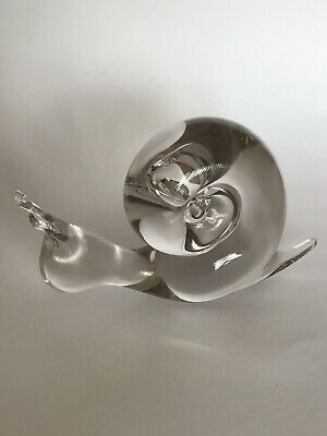 """Lovely Vintage Wedgwood Clear Glass Snail Paperweight/Ornament. Excellent 6"""" • 25£"""