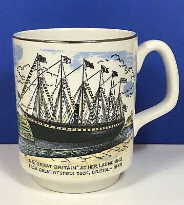 Vintage Mug Cup SS Great Britain Bristol Lord Nelson Pottery Brunel Collectable • 6.95£
