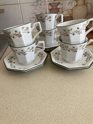 6 Tea Cups And 6 Saucers Eternal Bow Johnson Brothers • 2.71£