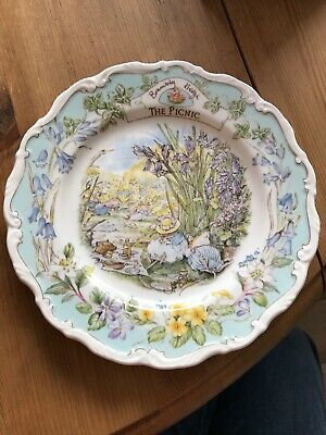 Royal Doulton The Picnic Brambley Hedge Collection 1989 Plate • 13£