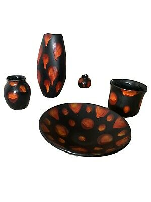 Poole Pottery 'Living Glaze' Galaxy Pattern 5 Separate Pieces , No Damage • 100£