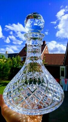 """Large Crystal """"SHAFTESBURY"""" Captains / Ships Decanter – By Stuart • 53.50£"""