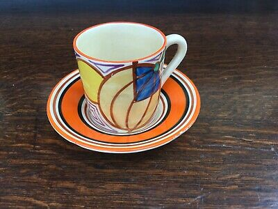 Clarice Cliff Melon Coffee Can And Saucer, Fantasque 1930 • 130£