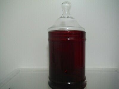 Vintage Anchor Hocking Royal Ruby Red Glass Apothecary Jar • 4.99£