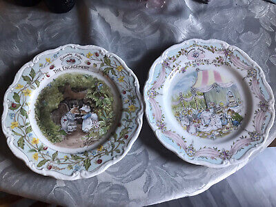 BRAMBLY HEDGE WEDDING PLATE And ENGAGEMENT PLATE • 13£