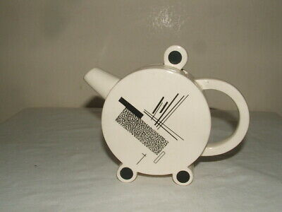 Clarice Cliff Style Abstract Bonjour Tea-pot Truly  Fabulous • 14.99£